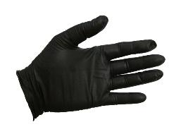 Joker® Powder Free Black Disposable Nitrile Gloves