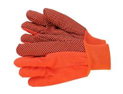 18-Oz. Hi-Vis PVC Dots Cotton Gloves