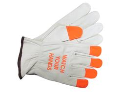 Select Grain Cowhide Leather Driver's Orange Finger Tips