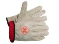 Insulated Leather Driver's & Leather Palm: Cowhide, Deerskin and Pigskin. Linings: Fleeced, Thermosock® and Thinsulate™